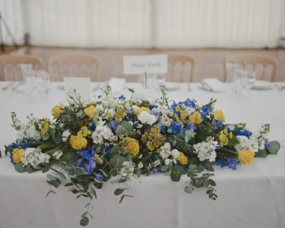 Table decoration with yellow flowers - Horsham
