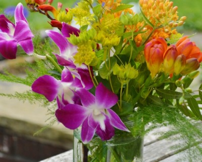 Centrepieces with tropical flowers - Surrey