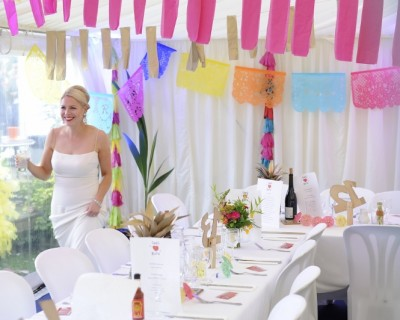 Tropical disco wedding flowers. Colourful sussex wedding. Rainbow wedding flowers. Brighton florist.