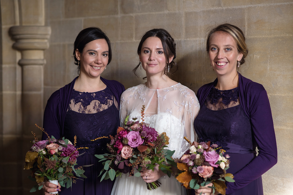 bride and bridesmaids lancing college