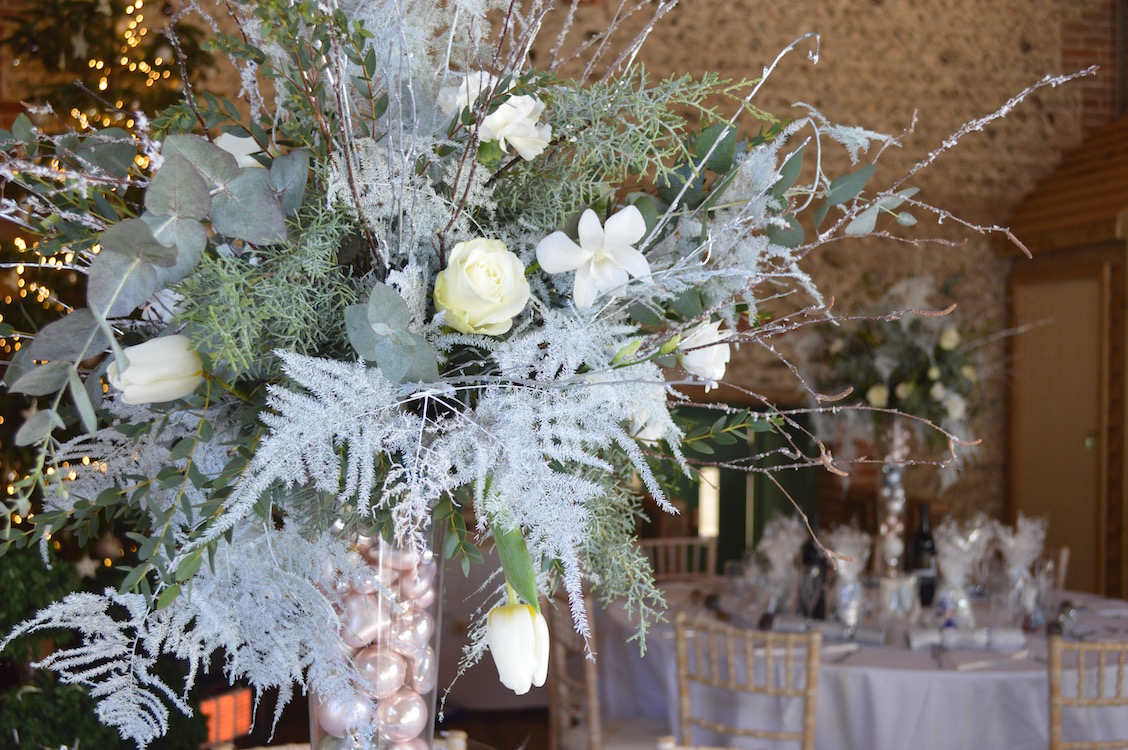 tall winter table displays