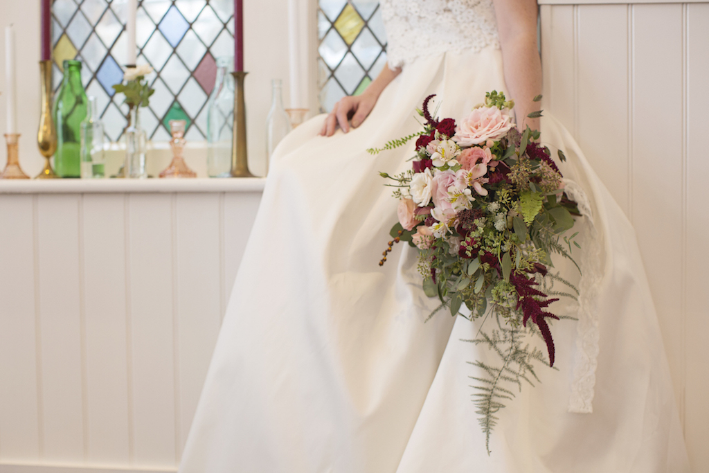 brighton harbour hotel wedding flowers and stained glass window