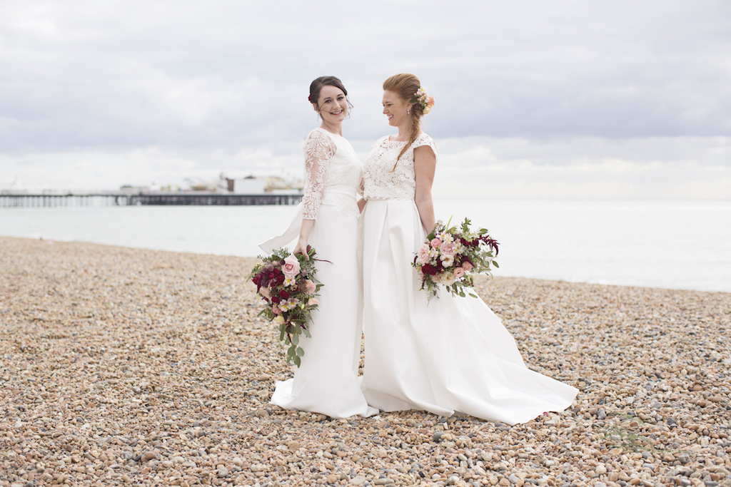 beach front gay wedding brighton sussex