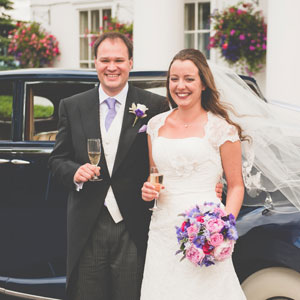 Caroline & David PinkPurpleLilac 7th July Dyrham Park Country Club, Hertfordshire