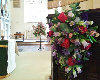 Church alter flowers