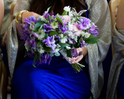 Purple bridesmaids bouquet - Wakehurst Place, West Sussex