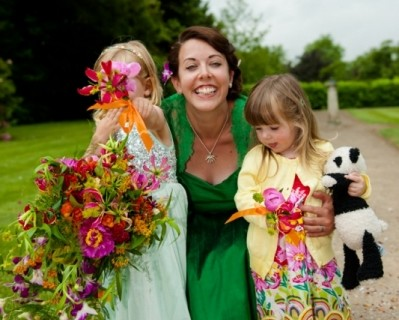 Tropical flowers for flower girls - Surrey