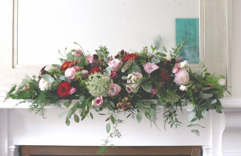 Mantelpiece arrangement at The Claremont Hove