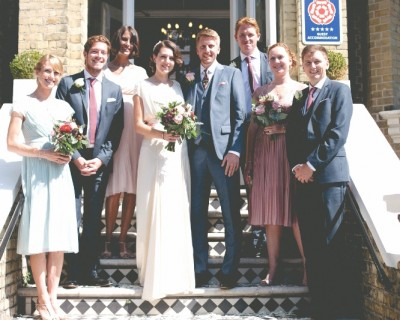 Bridal party at the Claremont Hotel Hove