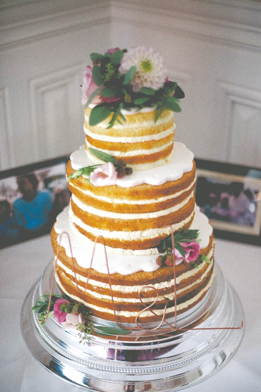 Naked wedding cake at the claremont hotel hove