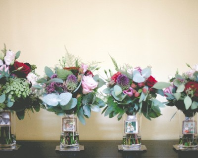 Bridal and bridesmaids bouquets from the Claremont Hove