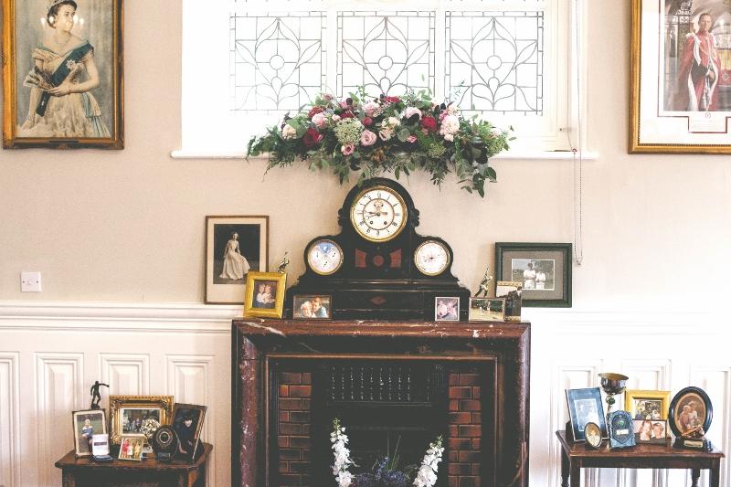 Windowsill flower arrangement at the claremont hotel