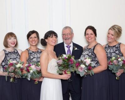 Bride and bridesmaids bouquets, winter wedding brighton
