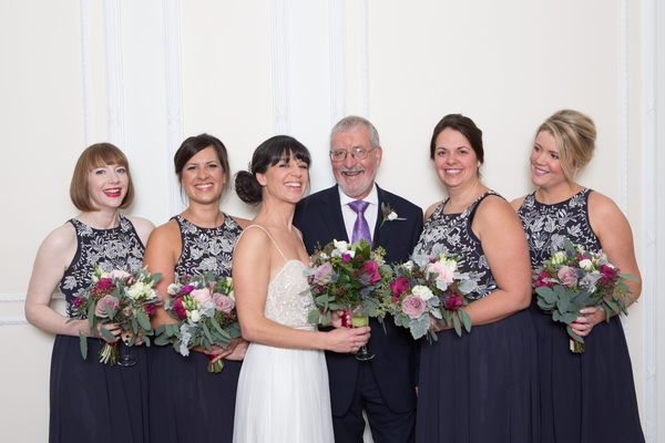 Bride and bridesmaids bouquets, winter wedding brighton