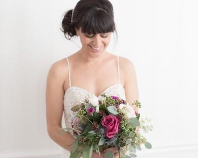 November flowers, brighton winter wedding