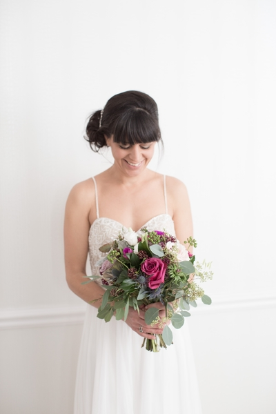November flowers, brighton winter wedding