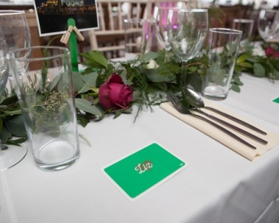 Foliage table runner, Brighton music hall, brighton wedding
