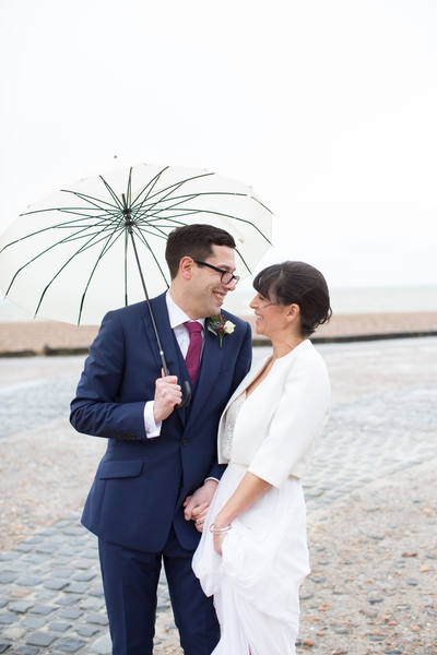 Bride and groom, Brighton seafront wedding, Brighton weddings