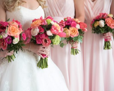 bright pink wedding flowers sussex
