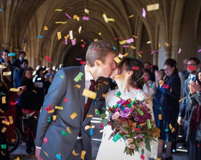 colourful brighton wedding
