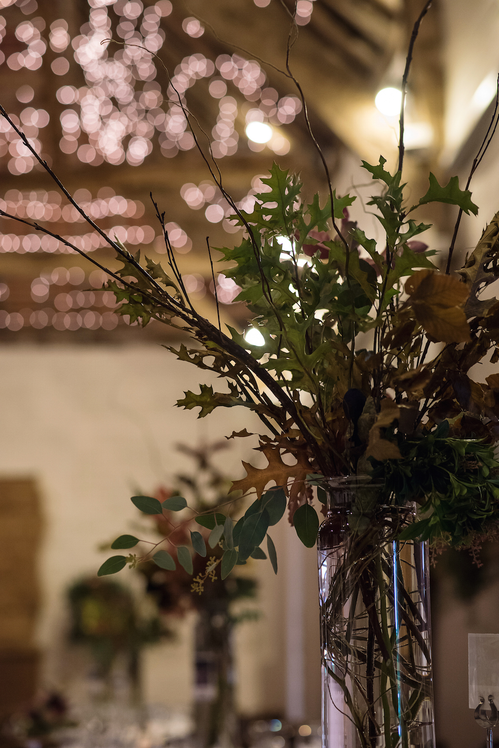 autumn wedding table arrangements