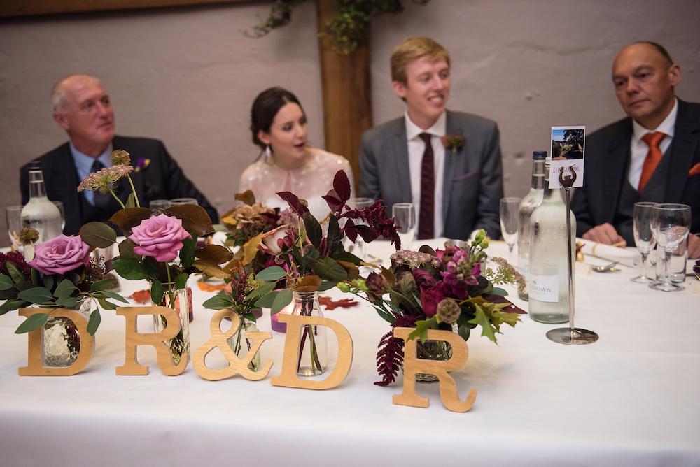 top table arrangement wedding