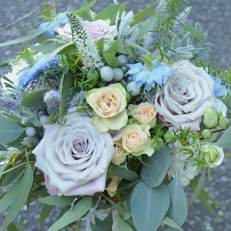 pastel bridal bouquet, august wedding flowers
