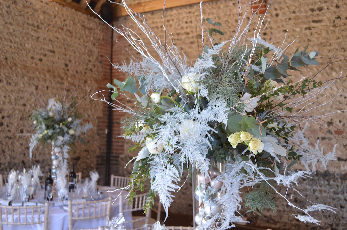 winter wonderland table centre