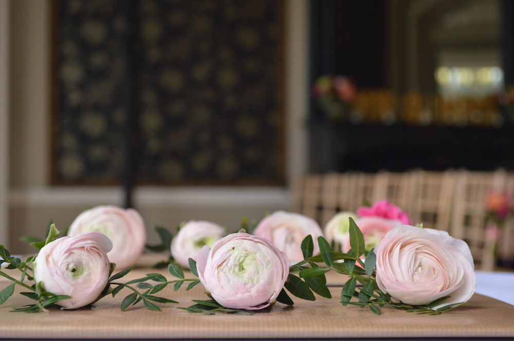 pale pink ranunculus buttonholes, nonsuch mansion