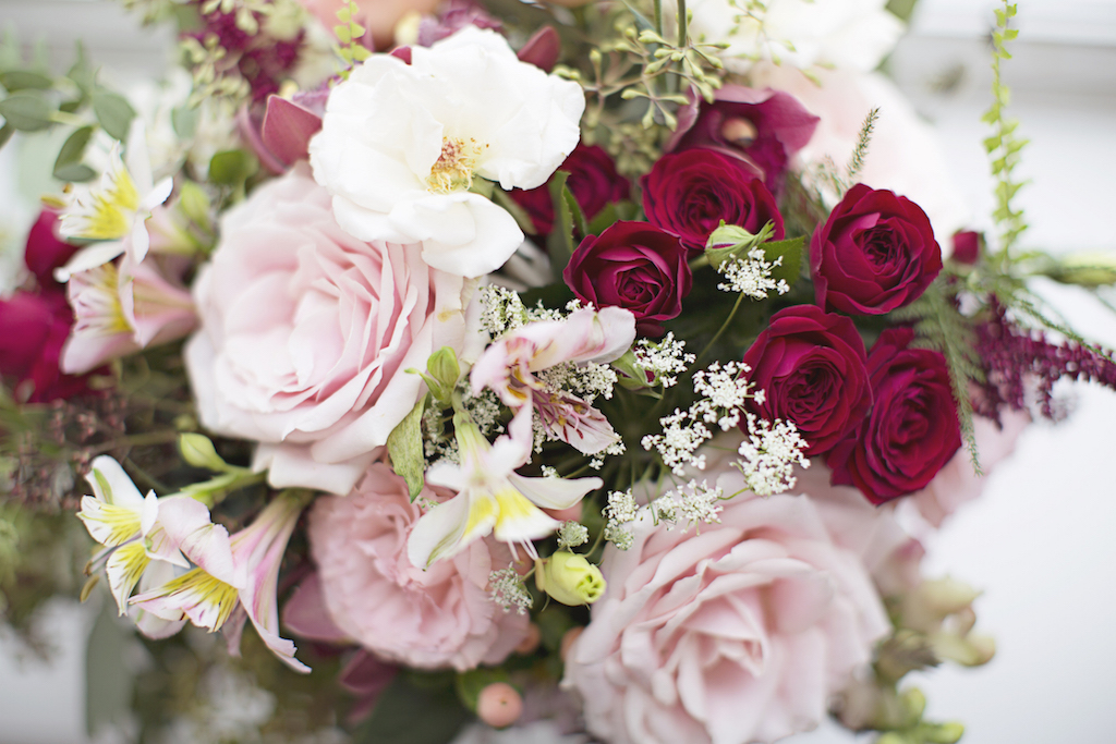 blush pink and burgundy wedding flowers, bettie rose brighton