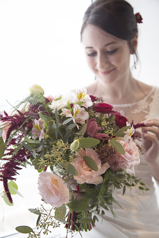 blush flowers in autumn for brighton wedding