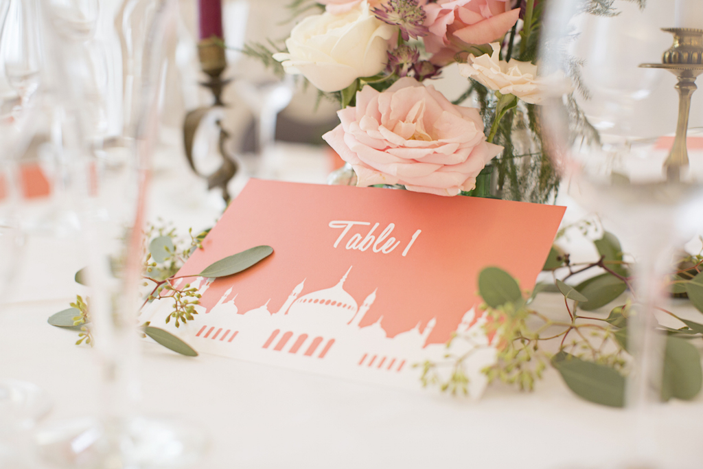 brighton inspired wedding table ideas