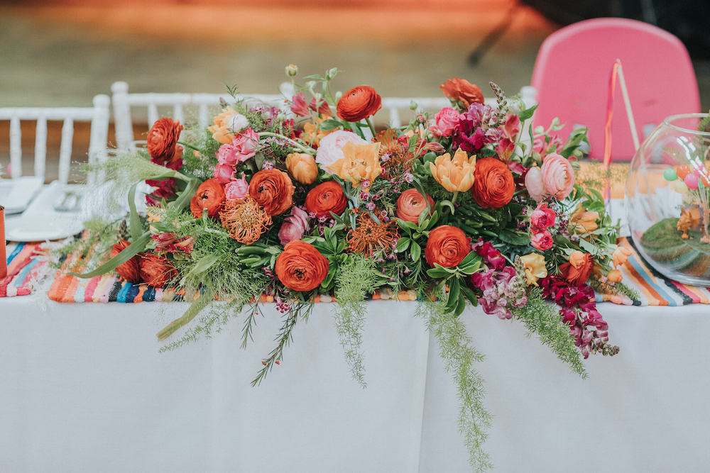 mexican fiesta florals by Brighton florist Bette Rose