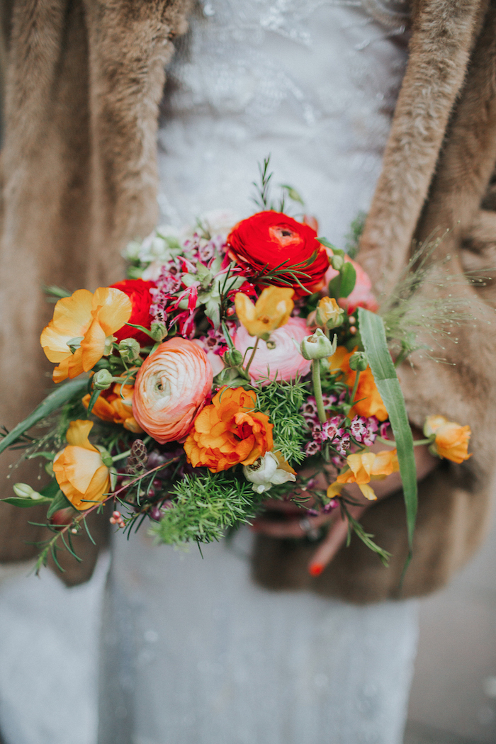 sussex wedding florist, bright and bold wedding flowers