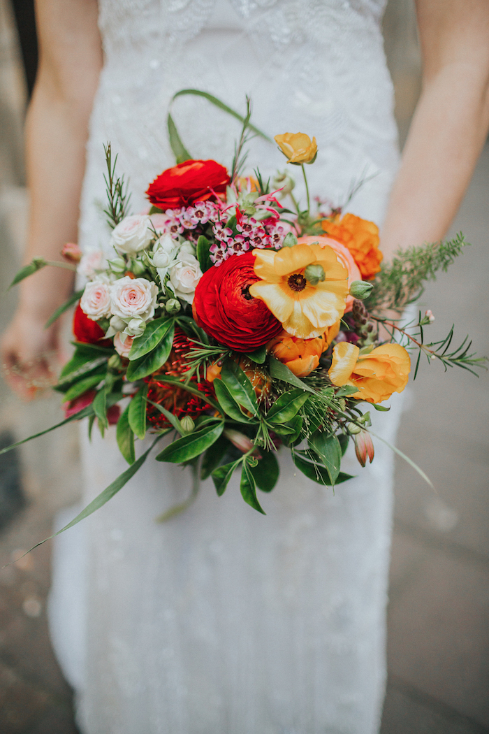 bridal bouquet for fun wedding