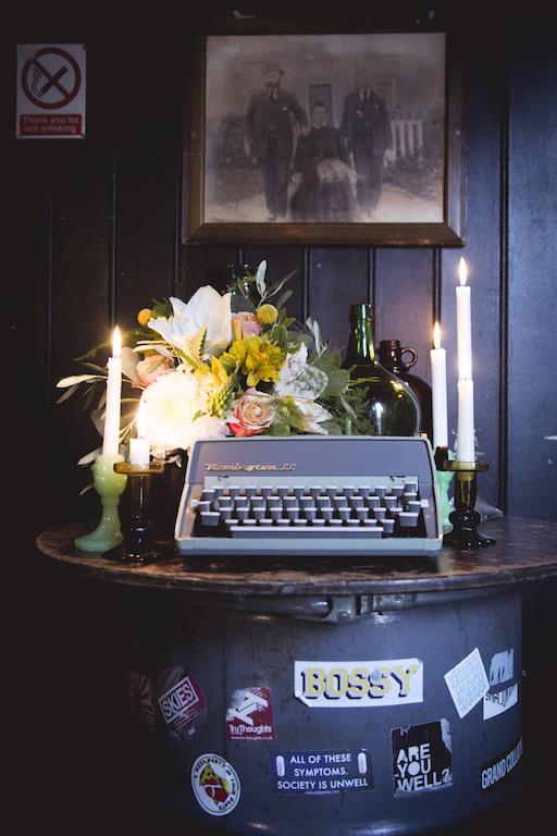 retro typewriter to hire for wedding prop
