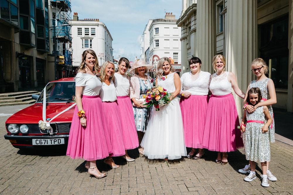 Brighton colourful wedding