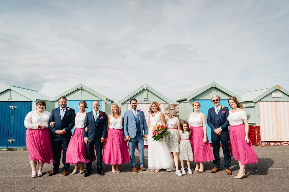 hove beach hut wedding