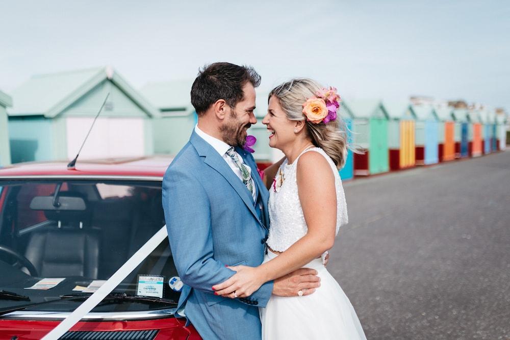 brighton seafront wedding, tropical wedding brighton
