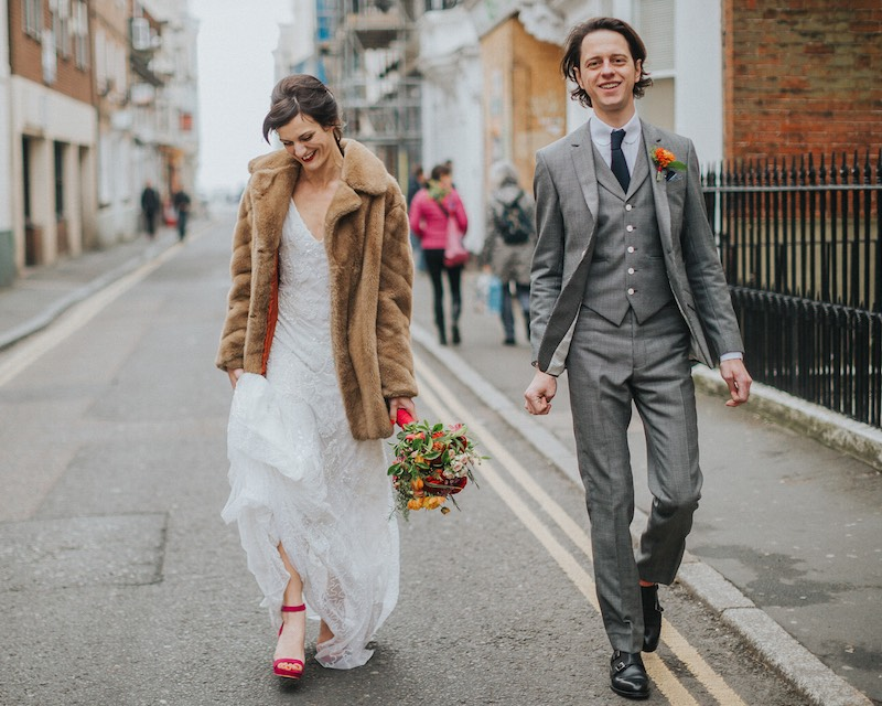 alternative Brighton wedding