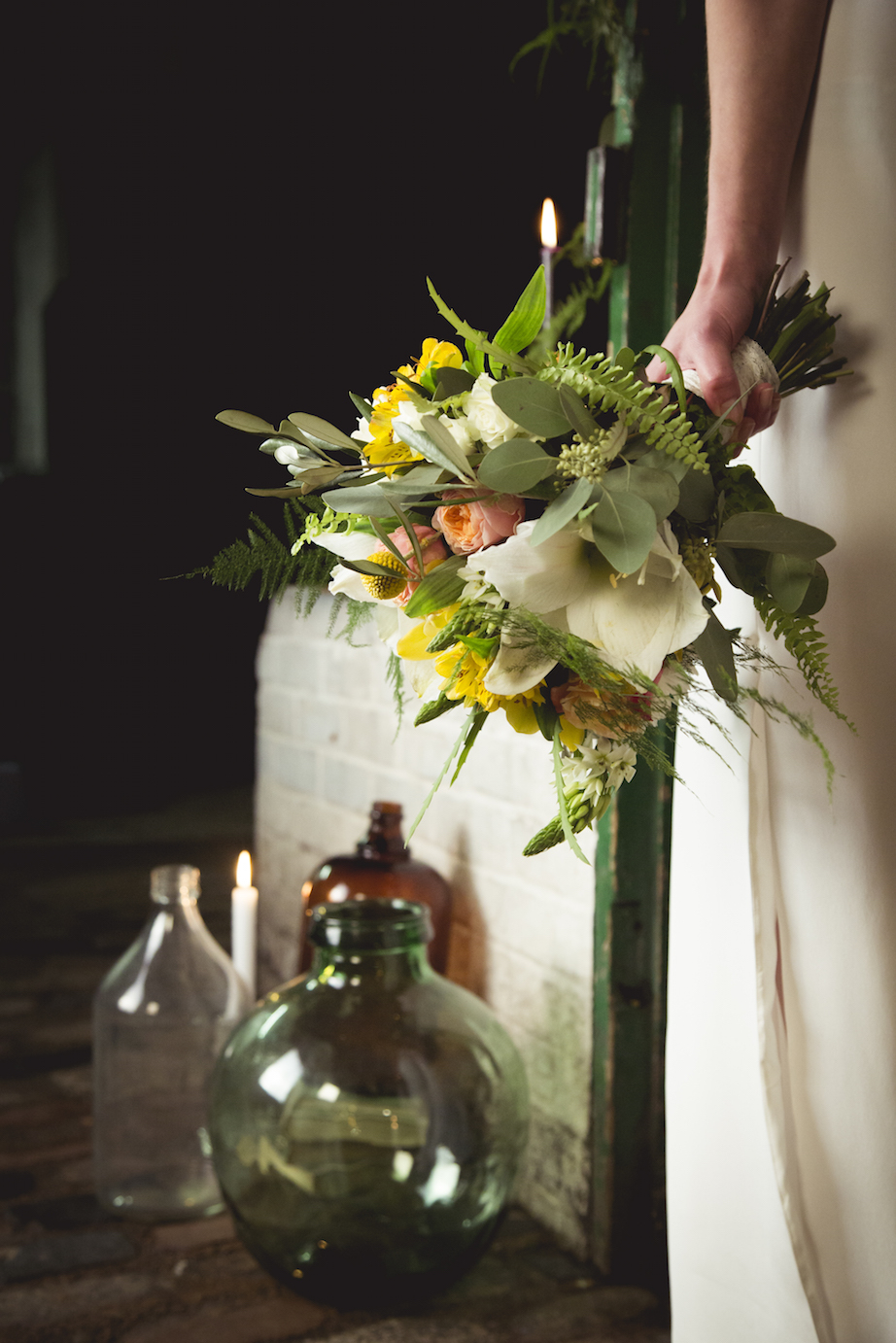 bridal bouquet with amarylis