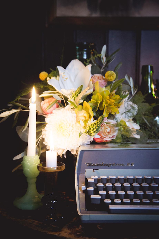 retro typewrite wedding prop hire, sussex