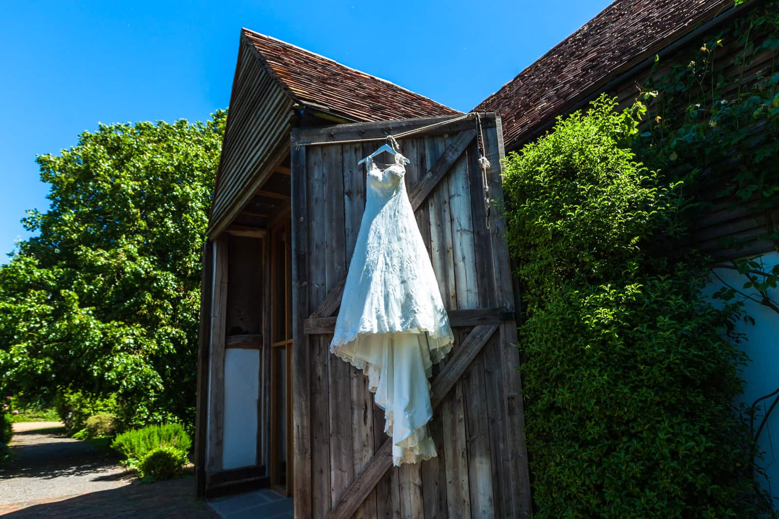 The English Wine Centre wedding, bridal gown