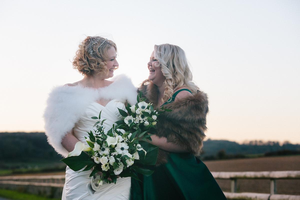 november wedding at long furlong barn