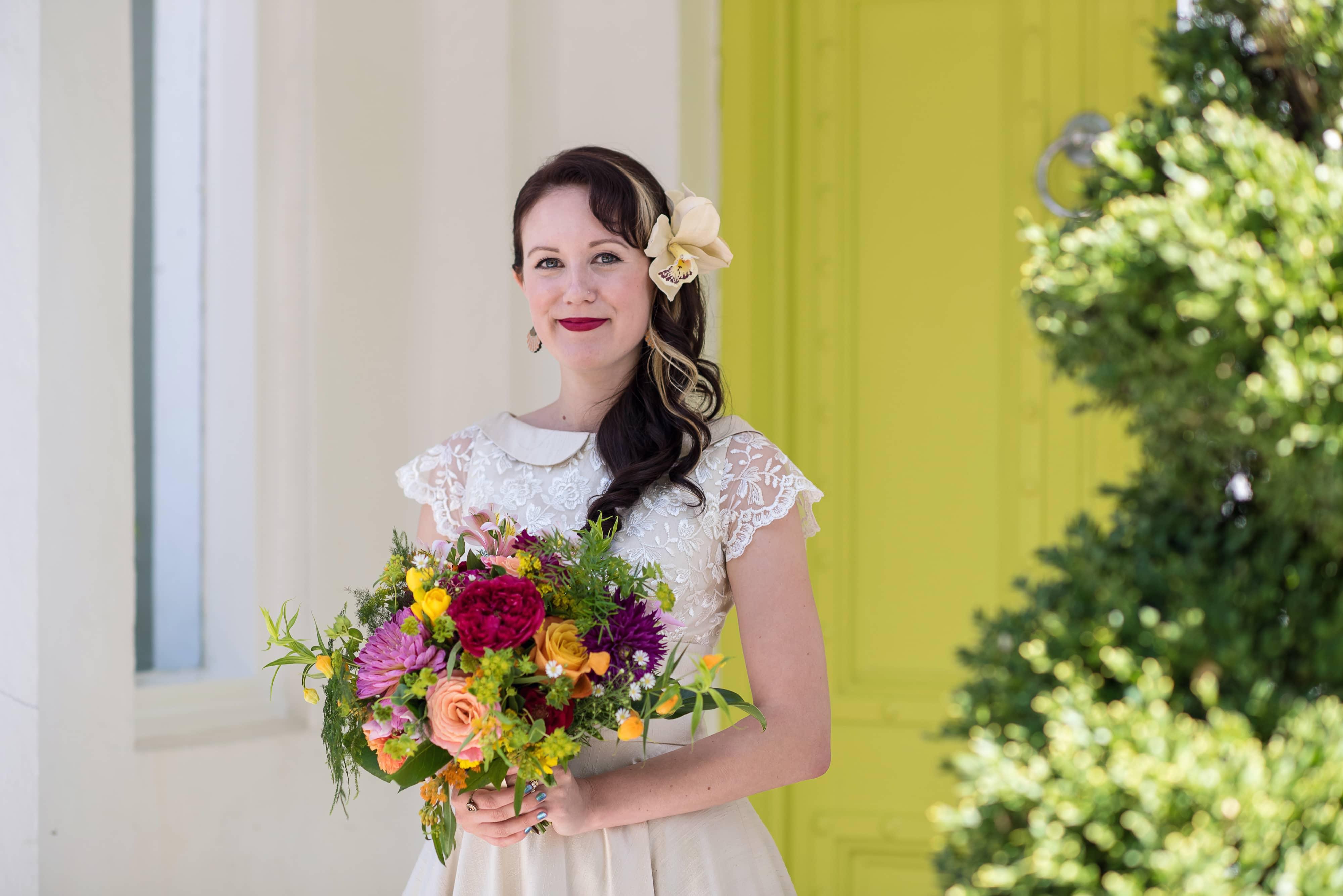 pangdean barn bridal flowers